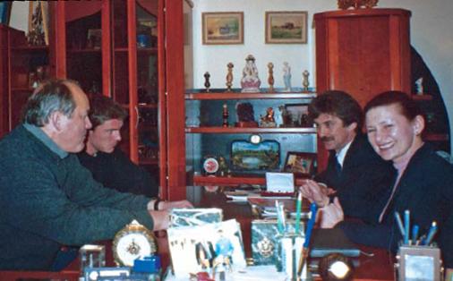 Теннисист Марат Сафин с отцом в гостях у «Алмаз-Холдинг»